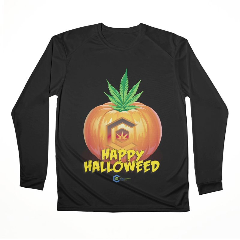 Happy Halloweed Men's Performance Longsleeve T-Shirt by The Medical Cannabis Community