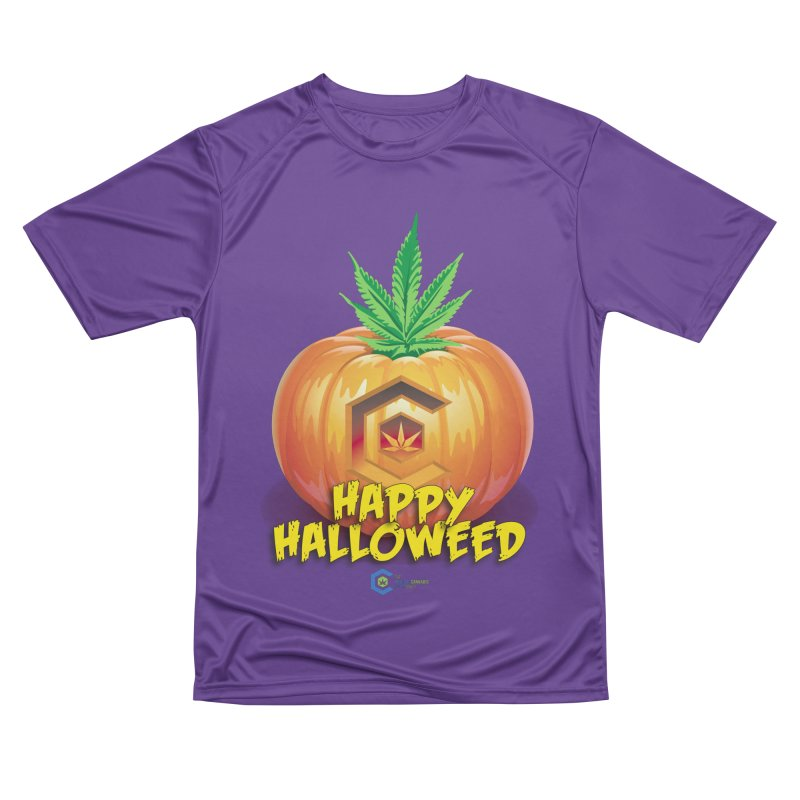 Happy Halloweed Men's Performance T-Shirt by The Medical Cannabis Community