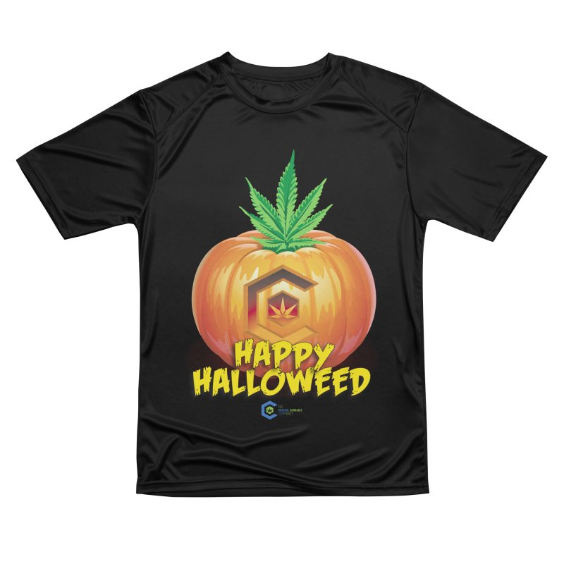 Happy Halloweed Women's Performance Unisex T-Shirt by The Medical Cannabis Community