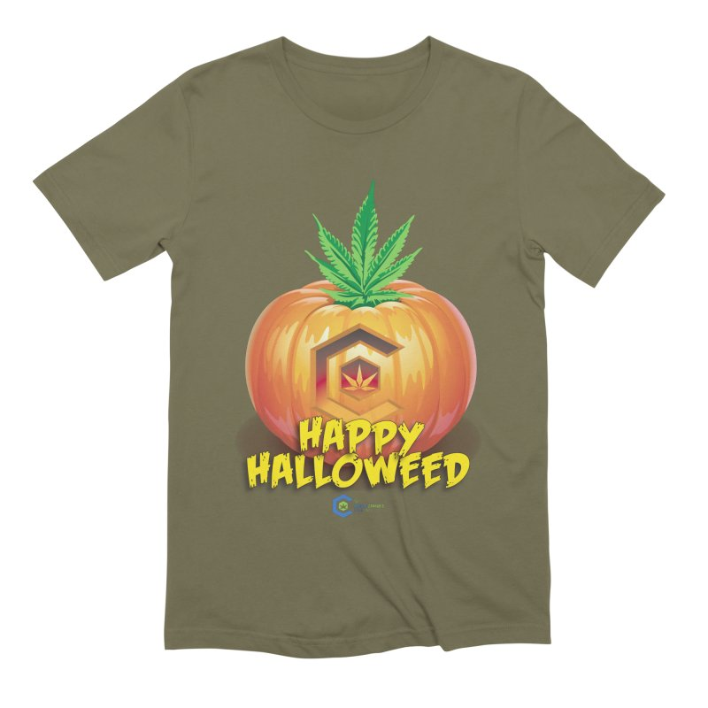 Happy Halloweed Men's Extra Soft T-Shirt by The Medical Cannabis Community
