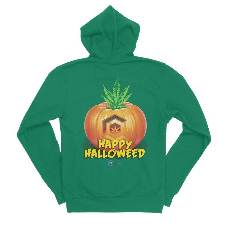 Happy Halloweed Women's Sponge Fleece Zip-Up Hoody by The Medical Cannabis Community