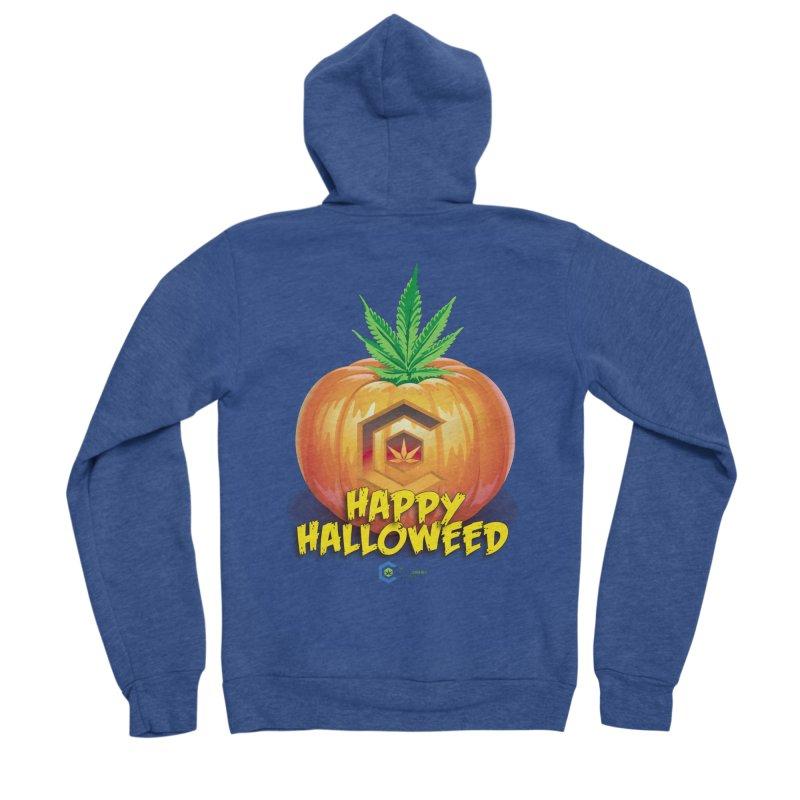 Happy Halloweed Men's Sponge Fleece Zip-Up Hoody by The Medical Cannabis Community
