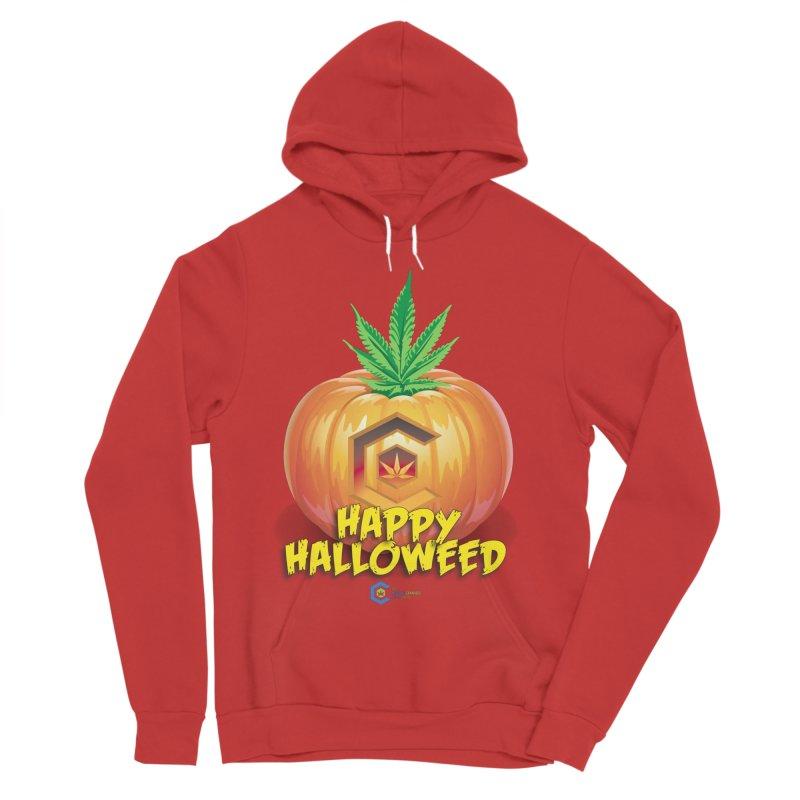 Happy Halloweed Women's Sponge Fleece Pullover Hoody by The Medical Cannabis Community