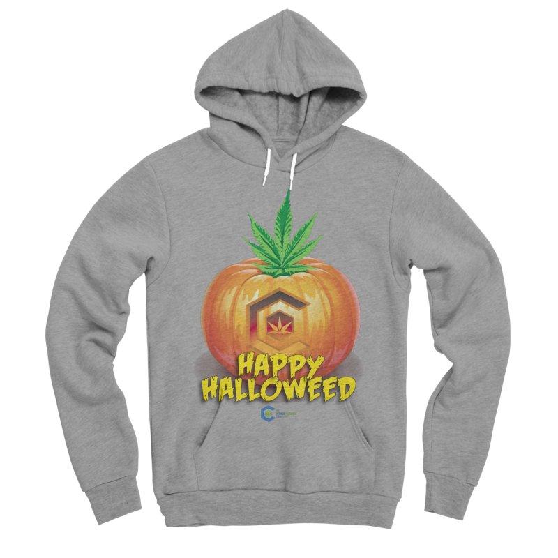 Happy Halloweed Men's Sponge Fleece Pullover Hoody by The Medical Cannabis Community