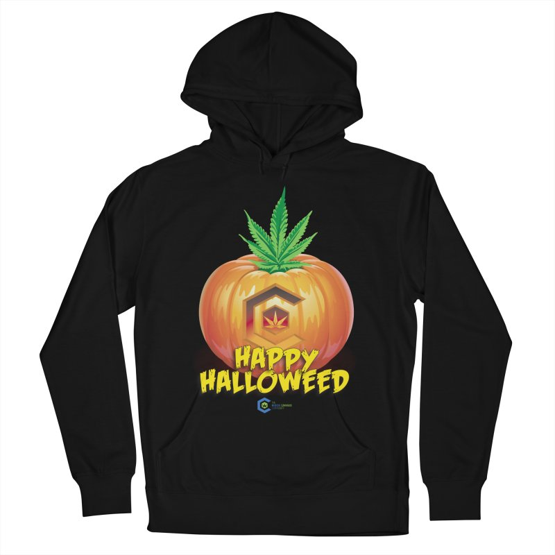 Happy Halloweed Men's French Terry Pullover Hoody by The Medical Cannabis Community