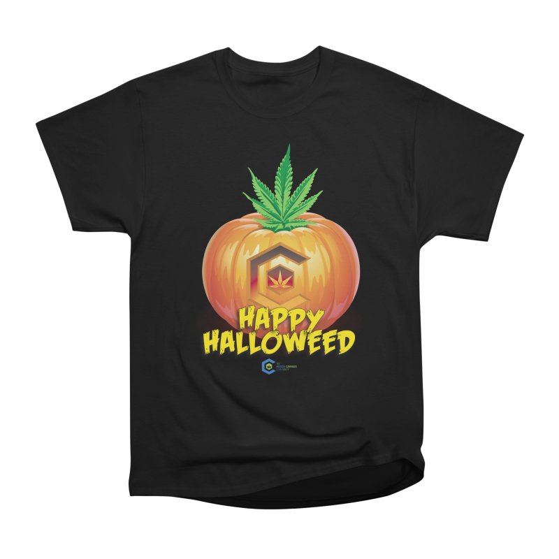 Happy Halloweed Men's Heavyweight T-Shirt by The Medical Cannabis Community