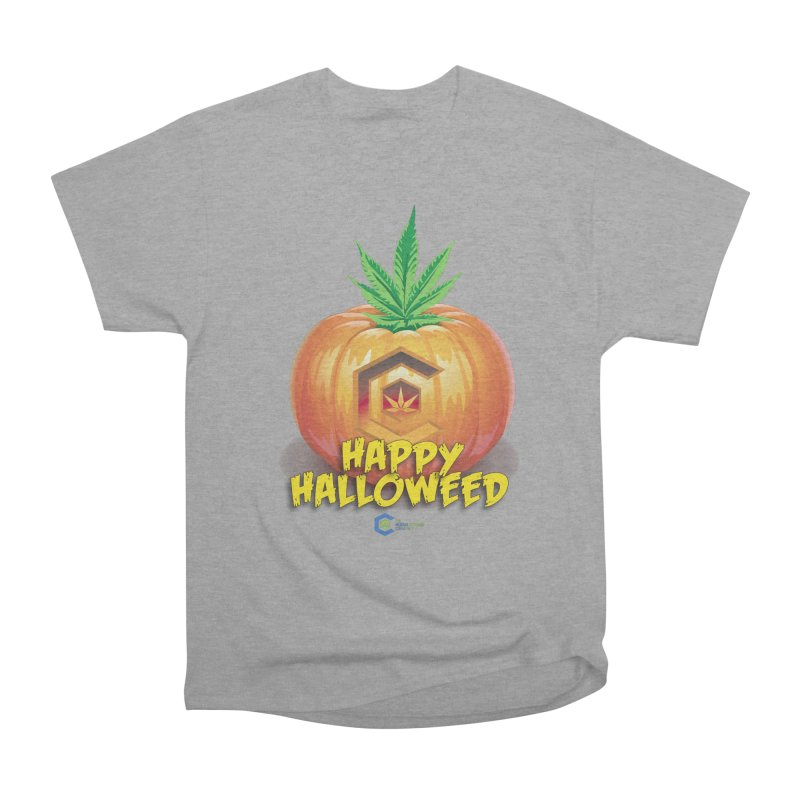 Happy Halloweed Women's Heavyweight Unisex T-Shirt by The Medical Cannabis Community