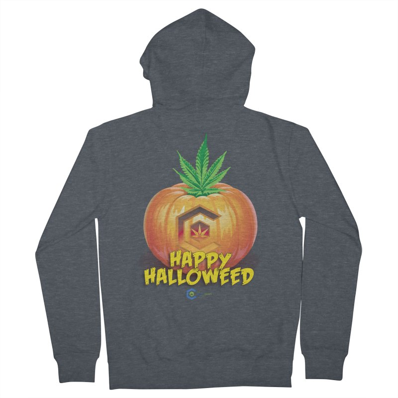 Happy Halloweed Women's French Terry Zip-Up Hoody by The Medical Cannabis Community