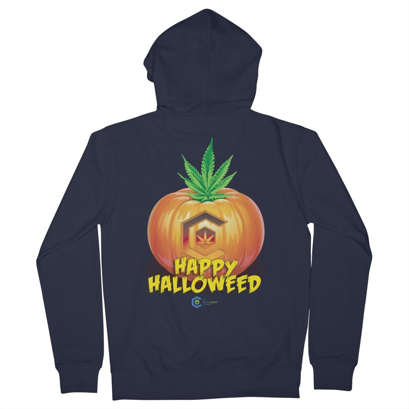 Happy Halloweed Men's French Terry Zip-Up Hoody by The Medical Cannabis Community