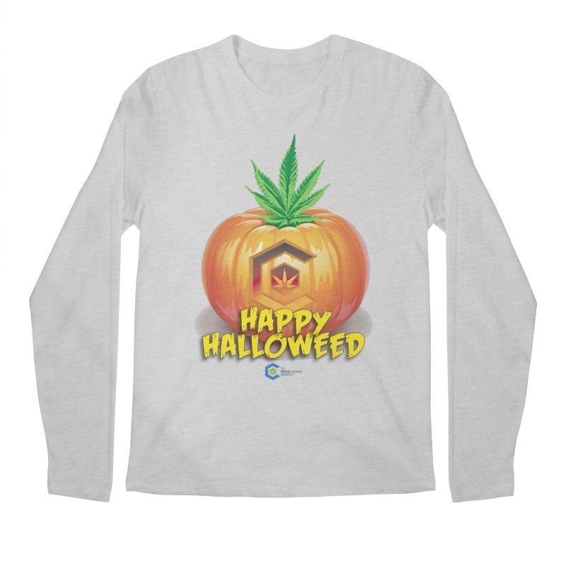 Happy Halloweed Men's Regular Longsleeve T-Shirt by The Medical Cannabis Community