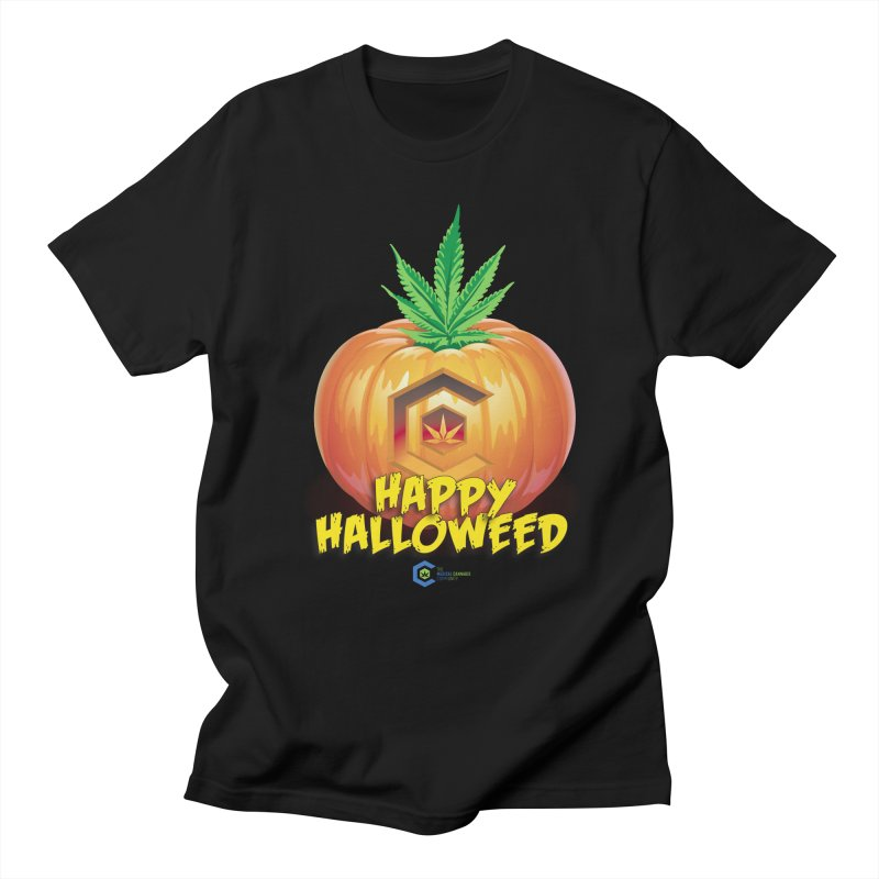 Happy Halloweed Women's Regular Unisex T-Shirt by The Medical Cannabis Community