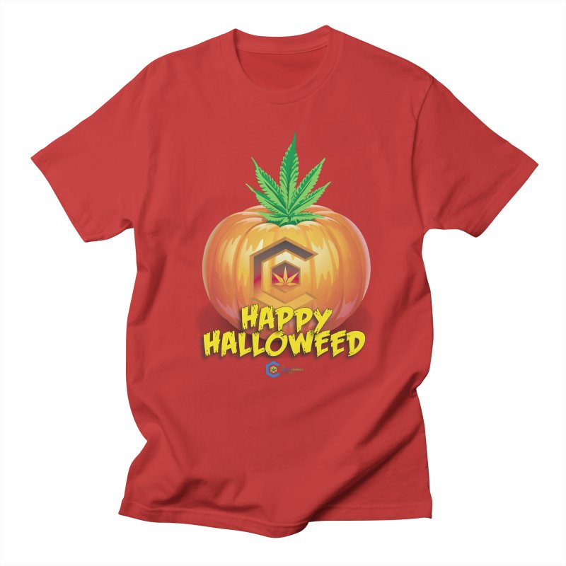 Happy Halloweed Women's Regular Unisex T-Shirt by The Medical Cannabis Community