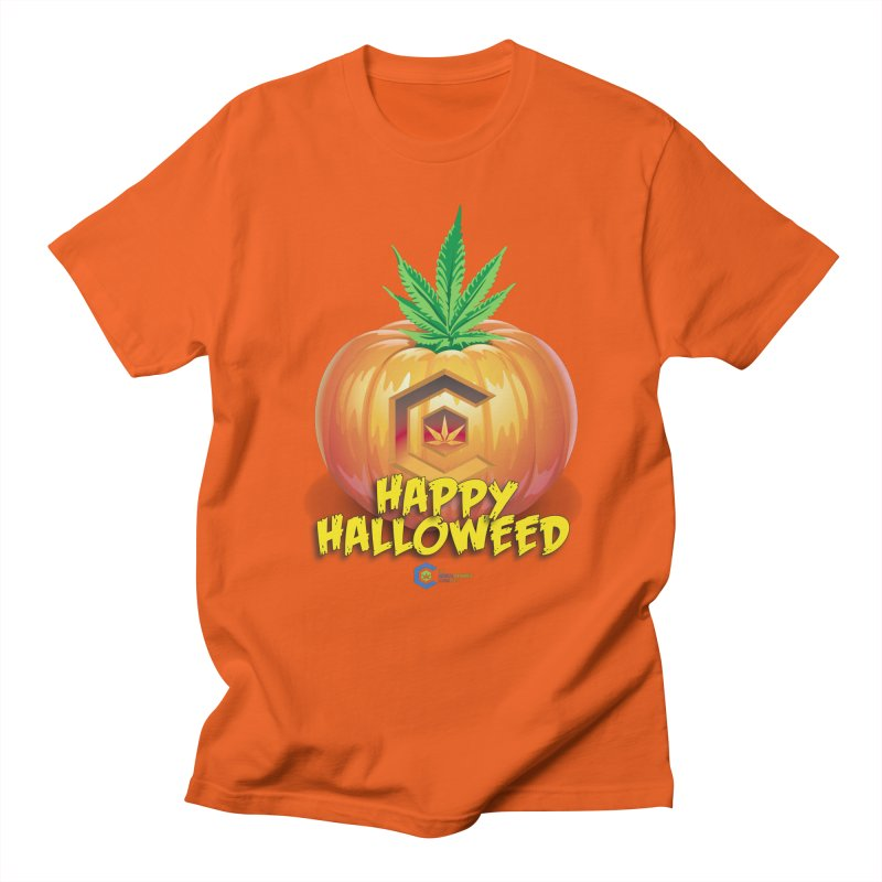 Happy Halloweed Men's Regular T-Shirt by The Medical Cannabis Community