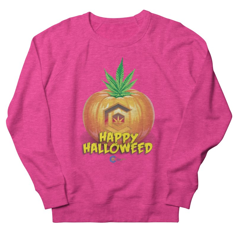 Happy Halloweed Men's French Terry Sweatshirt by The Medical Cannabis Community