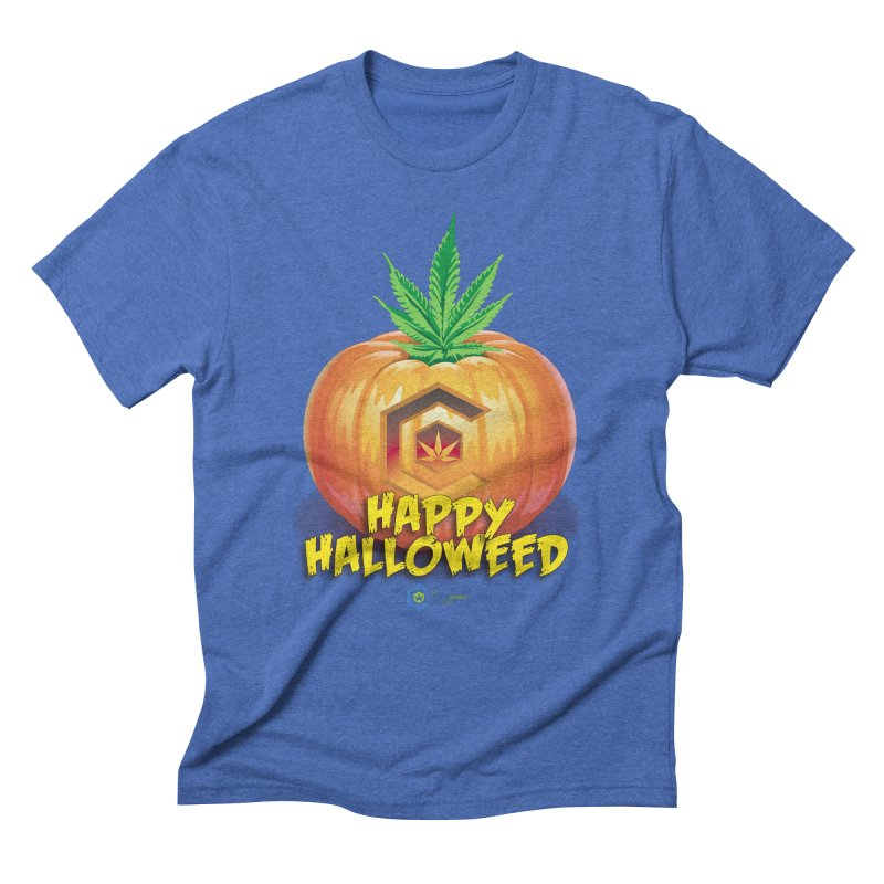 Happy Halloweed Men's Triblend T-Shirt by The Medical Cannabis Community