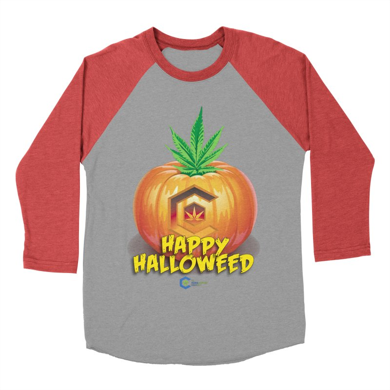 Happy Halloweed Men's Baseball Triblend Longsleeve T-Shirt by The Medical Cannabis Community