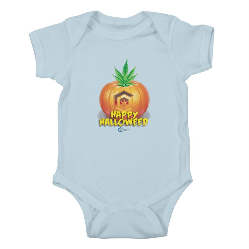 Happy Halloweed Kids Baby Bodysuit by The Medical Cannabis Community