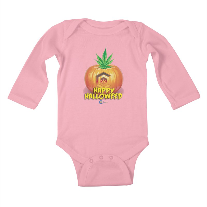 Happy Halloweed Kids Baby Longsleeve Bodysuit by The Medical Cannabis Community
