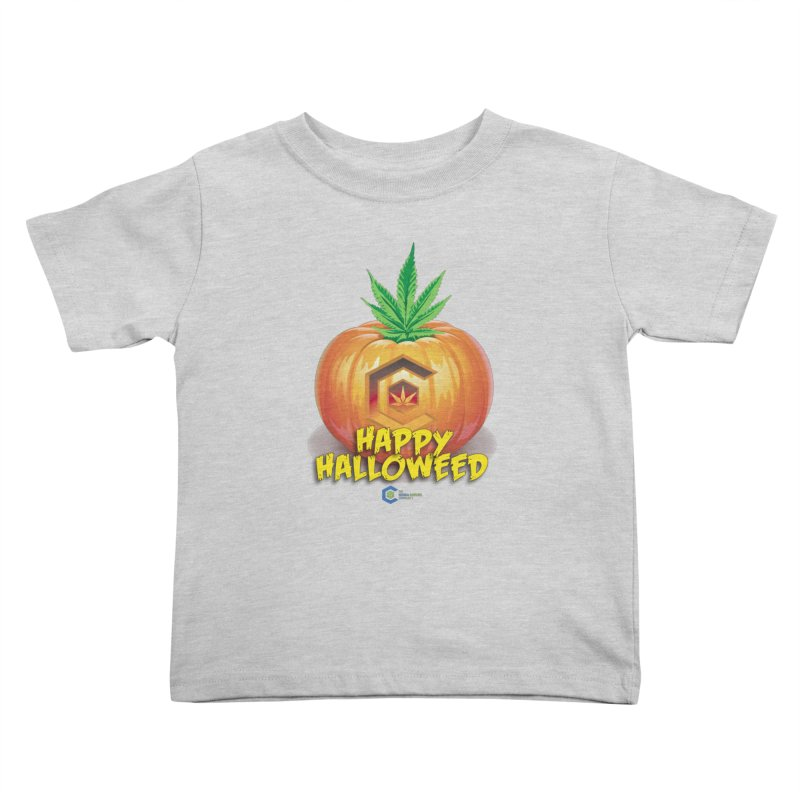 Happy Halloweed Kids Toddler T-Shirt by The Medical Cannabis Community