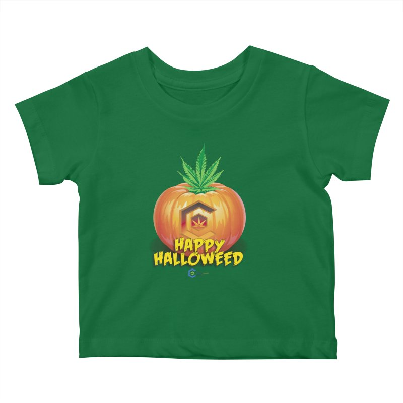 Happy Halloweed Kids Baby T-Shirt by The Medical Cannabis Community