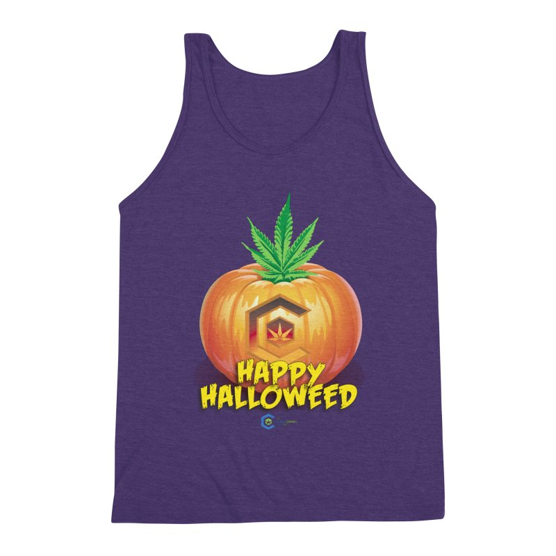 Happy Halloweed Men's Triblend Tank by The Medical Cannabis Community