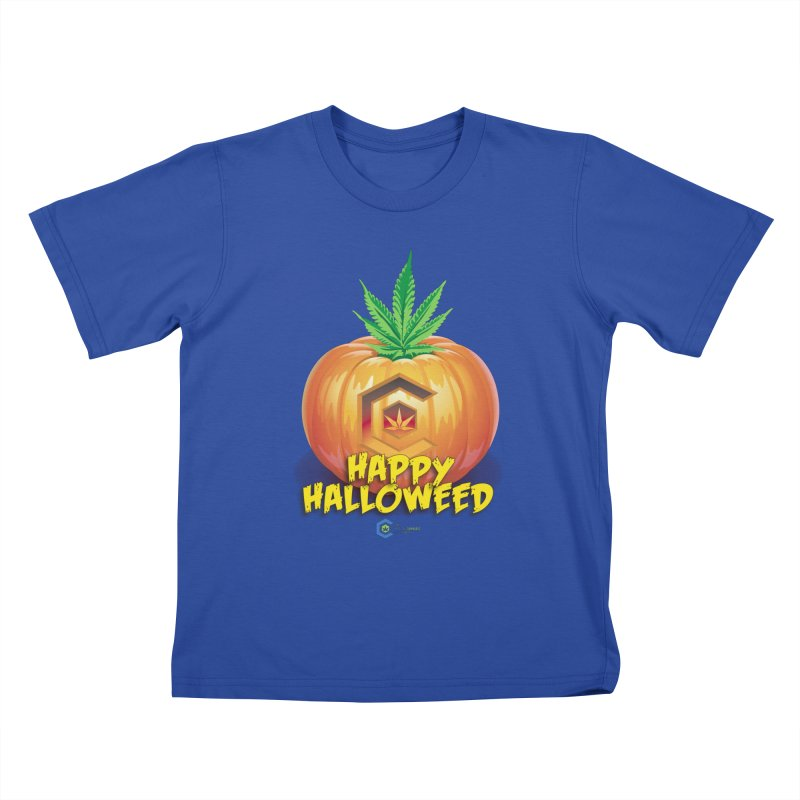 Happy Halloweed Kids T-Shirt by The Medical Cannabis Community