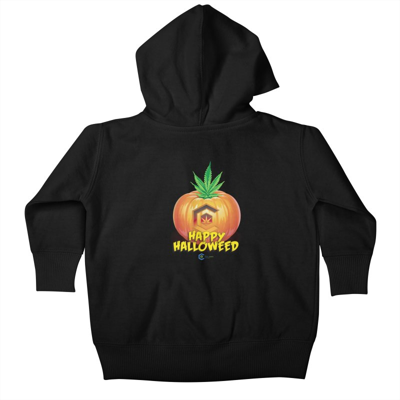 Happy Halloweed Kids Baby Zip-Up Hoody by The Medical Cannabis Community