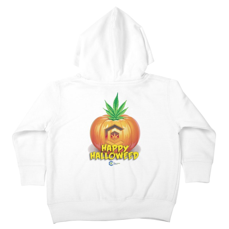 Happy Halloweed Kids Toddler Zip-Up Hoody by The Medical Cannabis Community