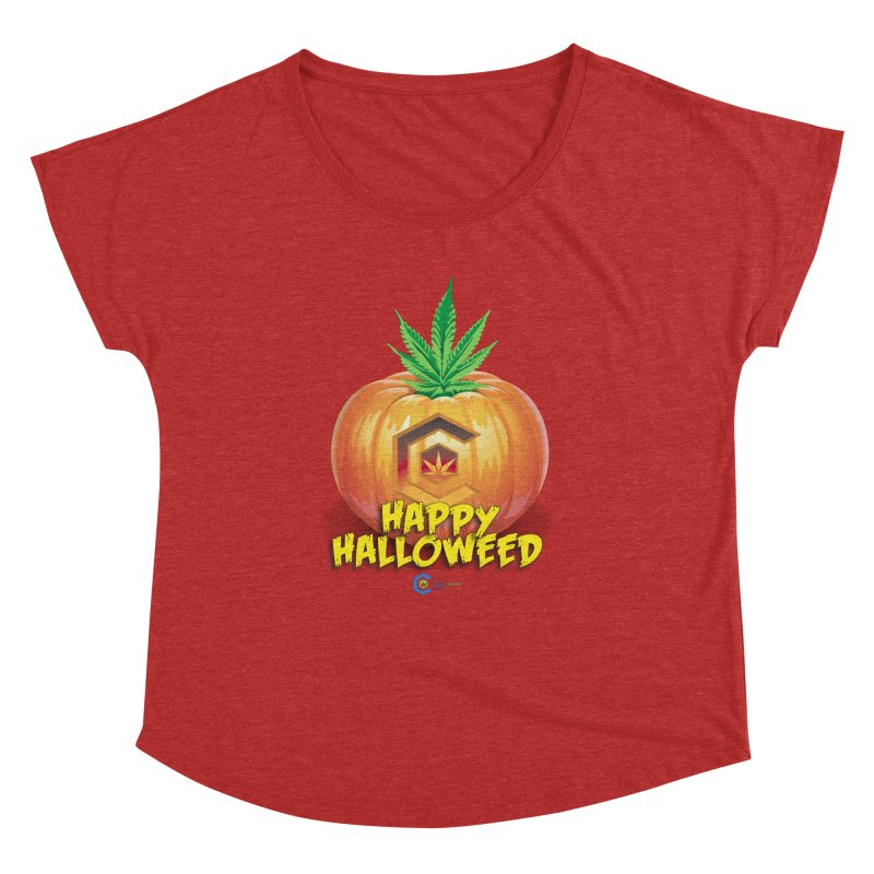Happy Halloweed Women's Dolman Scoop Neck by The Medical Cannabis Community