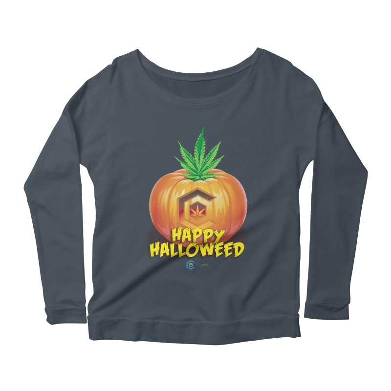 Happy Halloweed Women's Scoop Neck Longsleeve T-Shirt by The Medical Cannabis Community