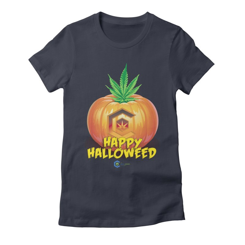 Happy Halloweed Women's Fitted T-Shirt by The Medical Cannabis Community