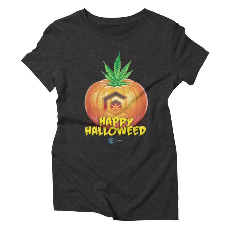 Happy Halloweed Women's Triblend T-Shirt by The Medical Cannabis Community
