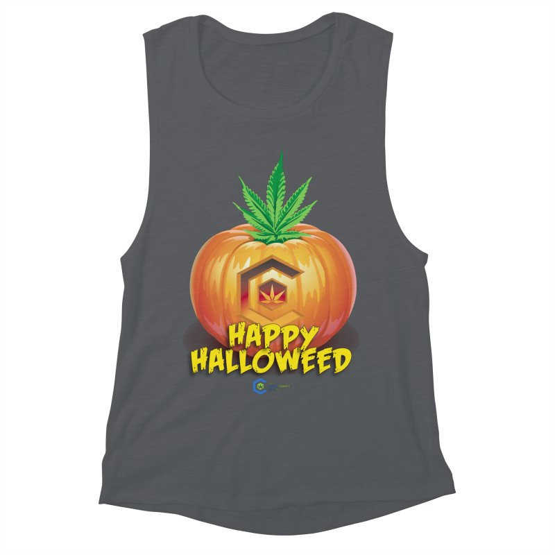 Happy Halloweed Women's Muscle Tank by The Medical Cannabis Community