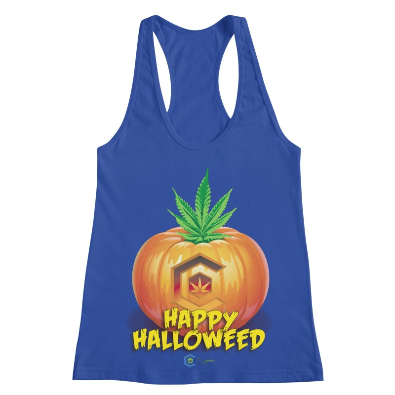 Happy Halloweed Women's Racerback Tank by The Medical Cannabis Community