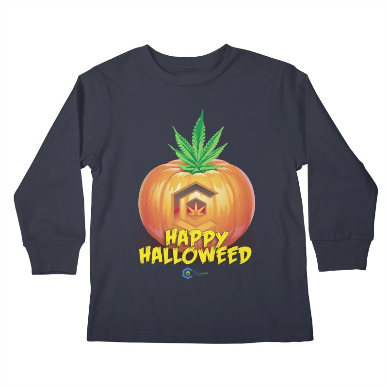 Happy Halloweed Kids Longsleeve T-Shirt by The Medical Cannabis Community