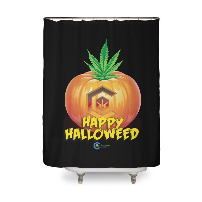 Happy Halloweed Home Shower Curtain by The Medical Cannabis Community