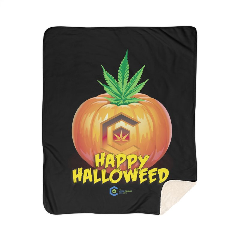 Happy Halloweed Home Sherpa Blanket Blanket by The Medical Cannabis Community