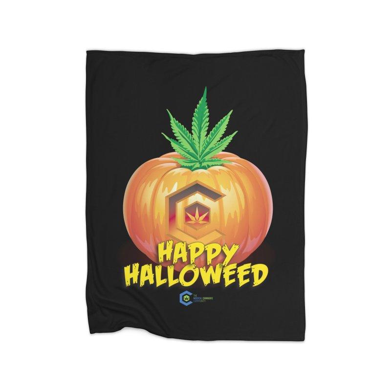 Happy Halloweed Home Fleece Blanket Blanket by The Medical Cannabis Community