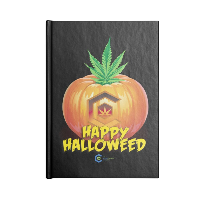 Happy Halloweed Accessories Lined Journal Notebook by The Medical Cannabis Community