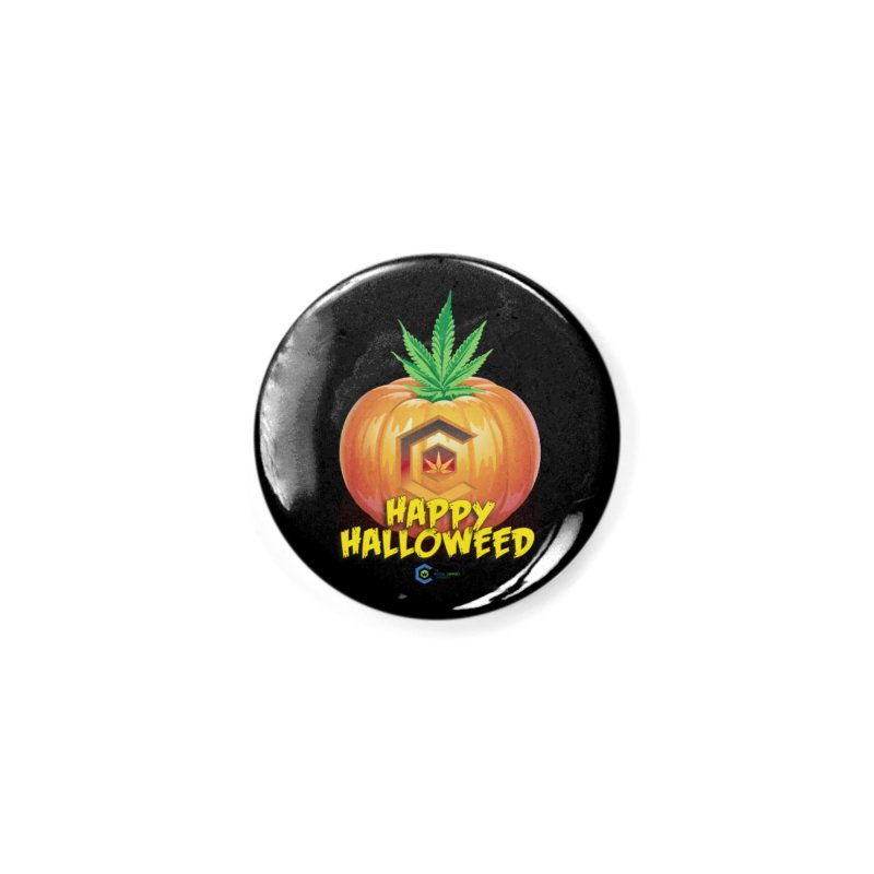 Happy Halloweed Accessories Button by The Medical Cannabis Community