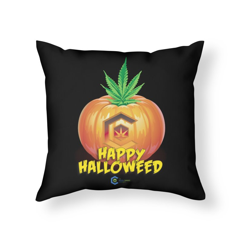 Happy Halloweed Home Throw Pillow by The Medical Cannabis Community