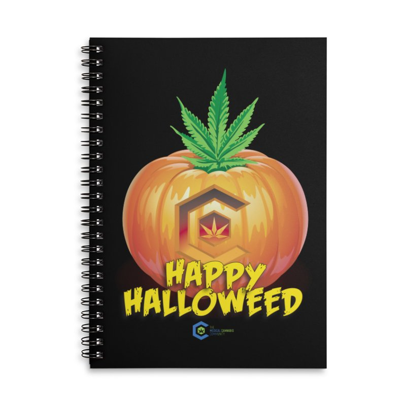 Happy Halloweed Accessories Lined Spiral Notebook by The Medical Cannabis Community