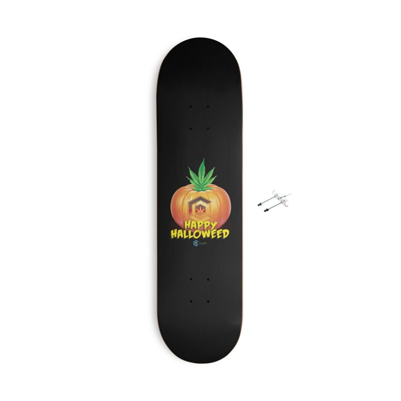 Happy Halloweed Accessories With Hanging Hardware Skateboard by The Medical Cannabis Community