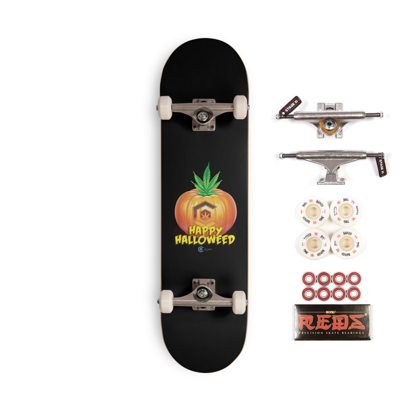 Happy Halloweed Accessories Complete - Pro Skateboard by The Medical Cannabis Community