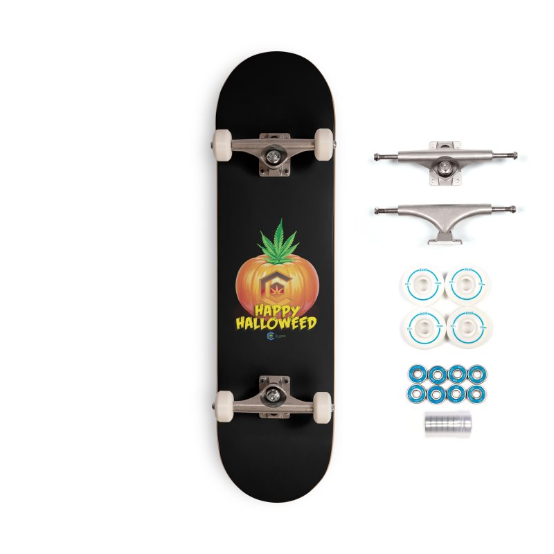 Happy Halloweed Accessories Complete - Basic Skateboard by The Medical Cannabis Community