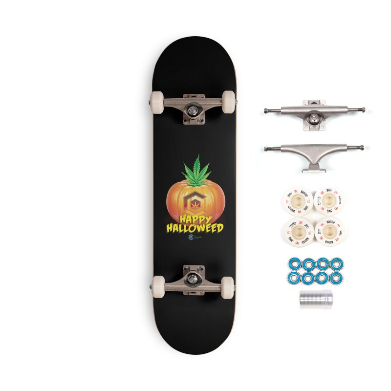 Happy Halloweed Accessories Complete - Premium Skateboard by The Medical Cannabis Community