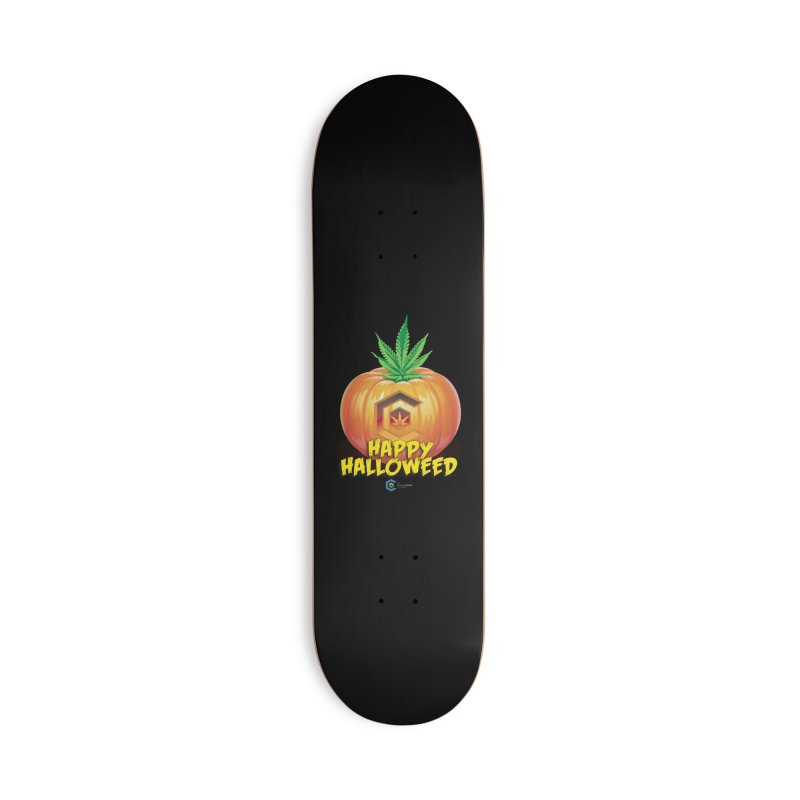 Happy Halloweed Accessories Deck Only Skateboard by The Medical Cannabis Community