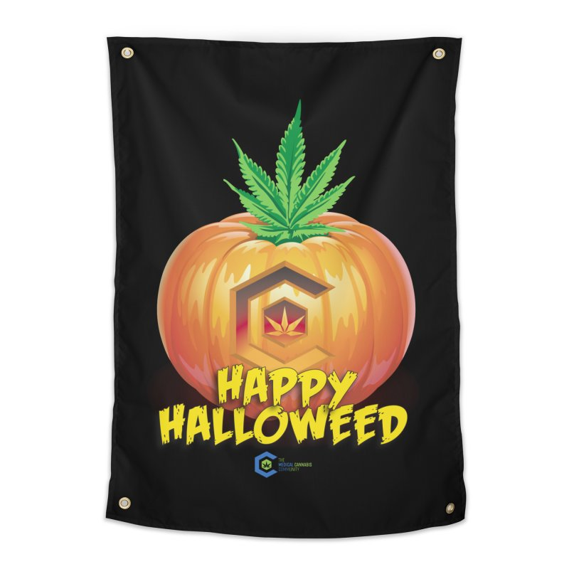 Happy Halloweed Home Tapestry by The Medical Cannabis Community