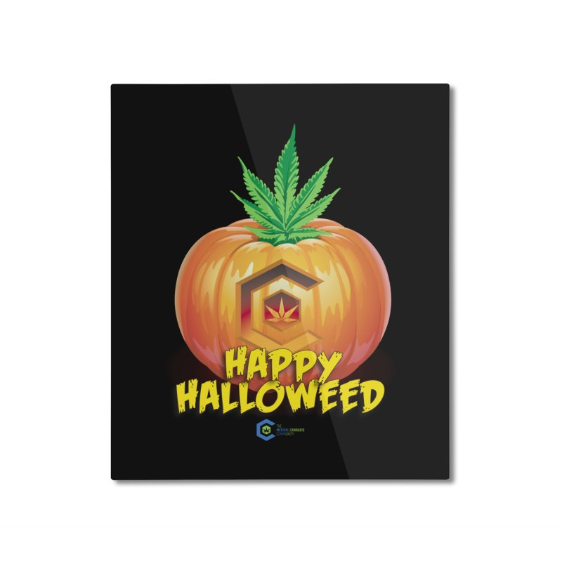 Happy Halloweed Home Mounted Aluminum Print by The Medical Cannabis Community