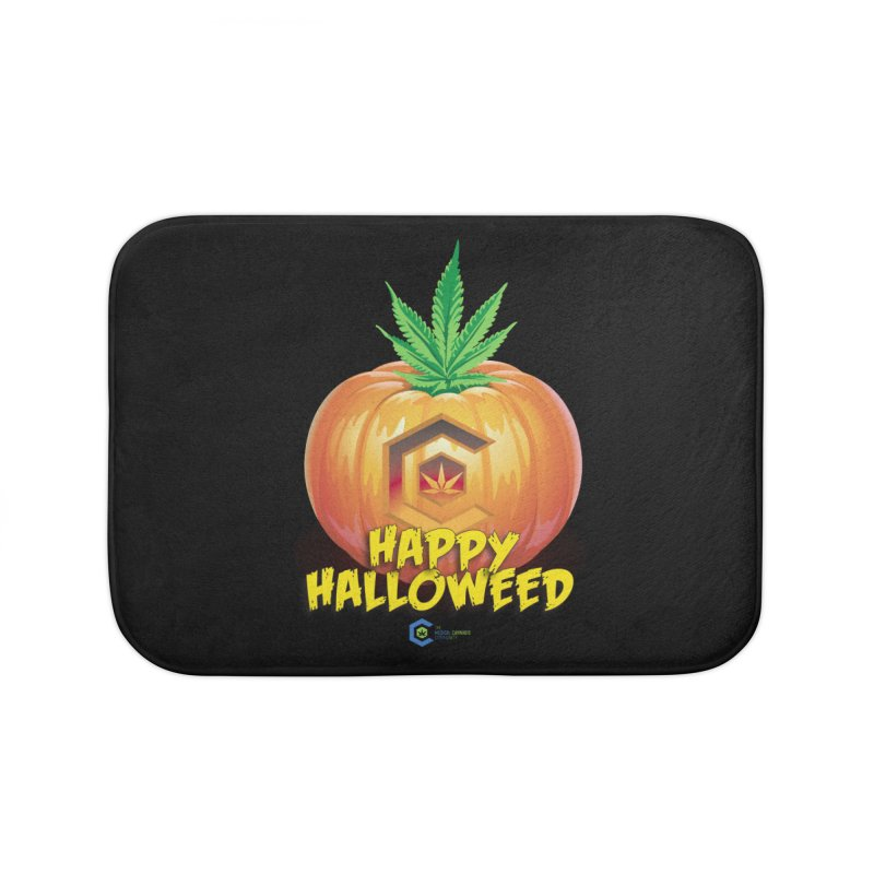 Happy Halloweed Home Bath Mat by The Medical Cannabis Community